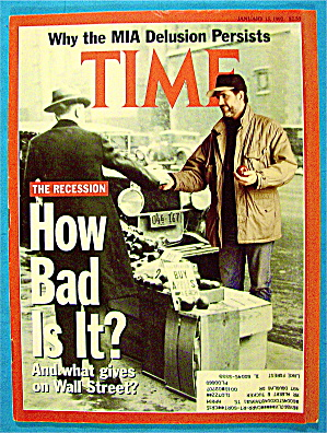 Time Magazine January 13, 1992 How Bad Is It