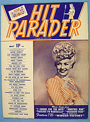 Hit Parader Magazine May 1944 Betty Grable