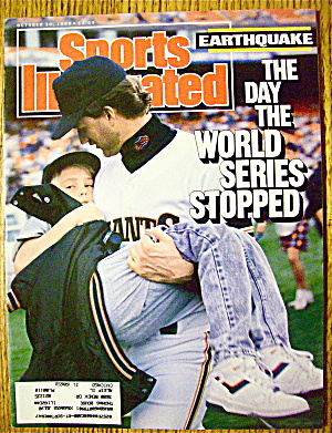 Sports Illustrated Magazine October 30, 1989 Earthquake