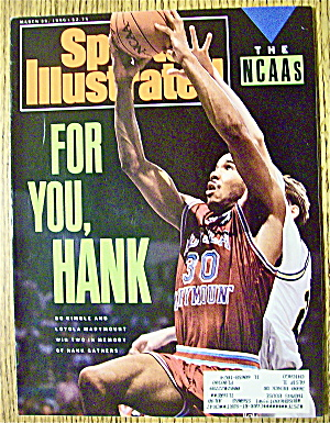 Sports Illustrated Magazine March 26, 1990 Bo Kimble