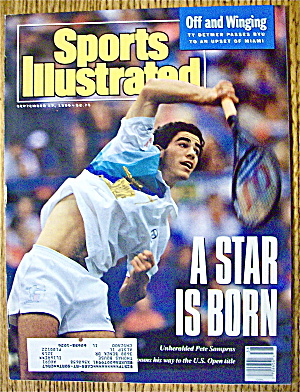 Sports Illustrated Magazine September 17, 1990 Sampras