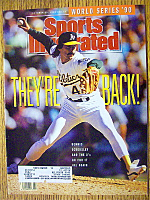 Sports Illustrated Magazine October 22, 1990 Eckersley
