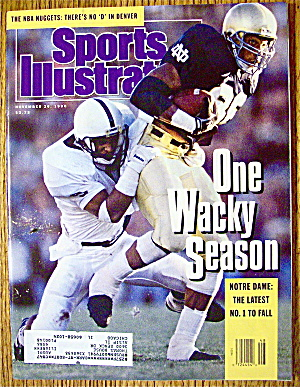 Sport Illustrated Magazine November 26, 1990 Notre Dame