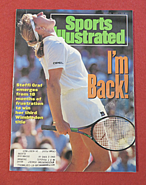 Sports Illustrated Magazine July 15, 1991 Steffi Graf
