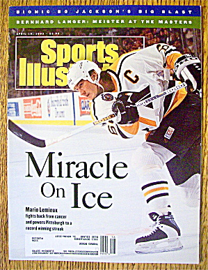 Sport Illustrated Magazine April 19, 1993 Mario Lemieux