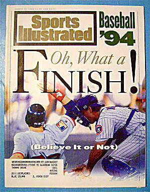Sports Illustrated Magazine August 22, 1994 Baseball 94