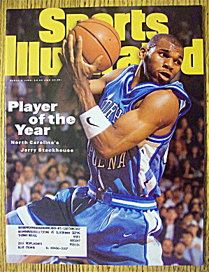 Sport Illustrated Magazine March 6, 1995 J. Stackhouse