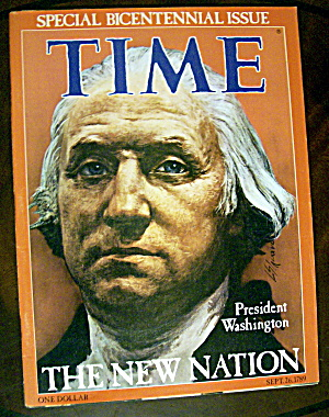 Time Magazine-september 26, 1789-president Washington
