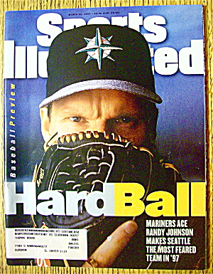 Sport Illustrated Magazine March 31, 1997 Randy Johnson