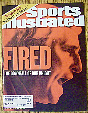 Sports Illustrated Magazine September 18, 2000 Fired