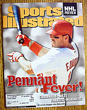 Sport Illustrated Magazine October 16, 2000 Jim Edmonds