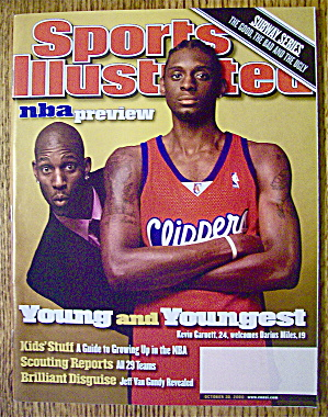 Sports Illustrated Magazine October 30, 2000 K. Garnett