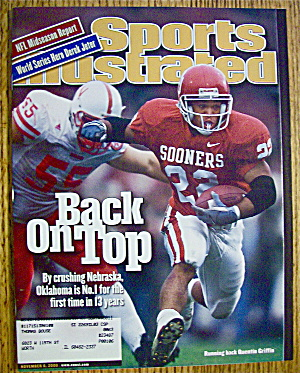 Sport Illustrated Magazine November 6, 2000 Quentin G