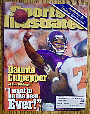 Sports Illustrated Magazine December 4, 2000 Daunte C.