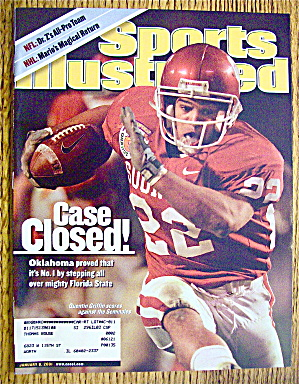Sports Illustrated Magazine January 8, 2001 Quentin G.