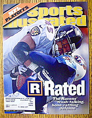Sports Illustrated Magazine January 15, 2001 Ravens