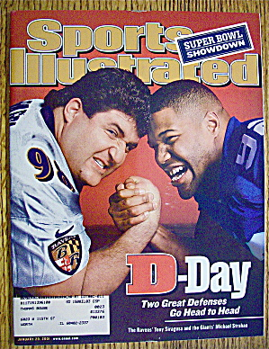 Sport Illustrated Magazine January 29, 2001 T. Siragusa