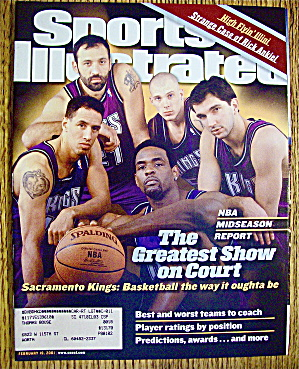 Sport Illustrated Magazine February 19, 2001 Sac. Kings