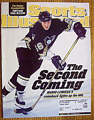 Sport Illustrated Magazine March 12, 2001 Mario Lemieux