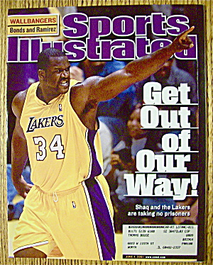 Sport Illustrated Magazine June 4, 2001 Shaq & Lakers