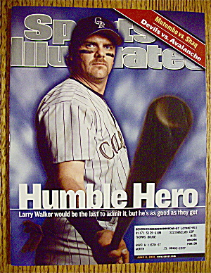 Sport Illustrated Magazine June 11, 2001 Larry Walker