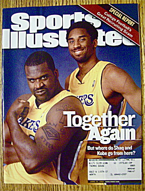 Sport Illustrated Magazine June 25, 2001 Shaq & Kobe