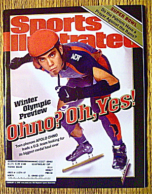 Sports Illustrated Magazine February 4, 2002 Apolo Ohno (Image1)