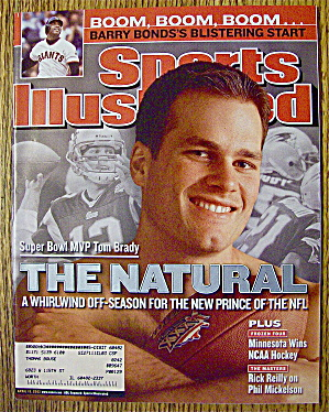 Sports Illustrated Magazine April 15, 2002 Tom Brady (Image1)