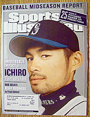 Sports Illustrated Magazine July 8, 2002 Ichiro (Image1)