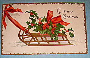 Merry Christmas Postcard By Ellen Clapsaddle (Image1)