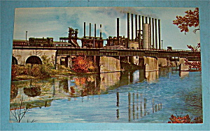 Blast Furnaces Of Youngstown Sheet & Tube Co. Postcard (Image1)
