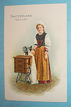 Singer Sewing Card (Switzerland-soleure)