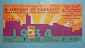 Century Of Progress Admission Ticket (1934)