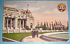 End Of Manufacturers Building And Band Stand Postcard