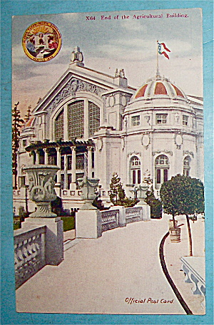 End Of The Agricultural Building Postcard (Yukon Expo) (Image1)