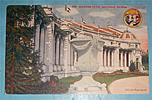 Colonade Of The Agricultural Building Postcard