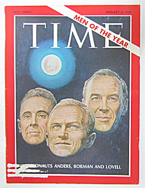 Time Magazine-january 3, 1969-astronauts Lovell & More