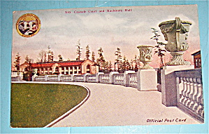 Cascade Court And Machinery Hall Postcard