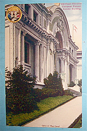 Front Elevation European Foreign Building Postcard