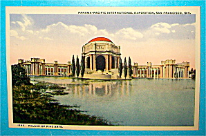 Palace Of Fine Arts Postcard-Panama Pacific Exposition (Image1)