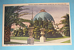 Glass Dome Of Horticulture Palace Postcard-pan Pac Expo