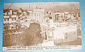 Over The Roof Tops Of Los Angeles Postcard-Pan Pac Expo (Image1)