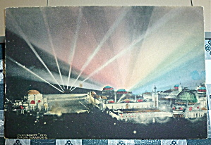 1915 Panama-Pacific Exposition Postcard-Night Lights  (Image1)
