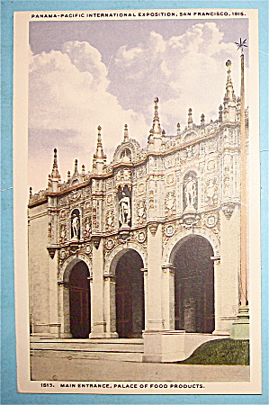 Main Entrance, Palace Of Food Products Postcard (Image1)