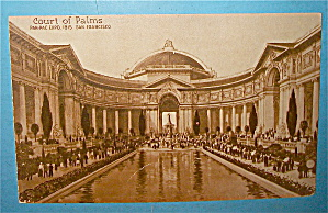 Court Of Palms Postcard (Panama Pacific Intl Expo)