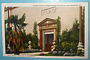 Portal To Palace Of Education Postcard (Pan Pac Expo)