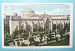 Palace Of Varied Industries Postcard (Pan Pac Expo) (Image1)