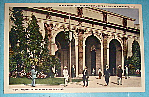 Arches In Court Of Four Seasons Postcard (Pan Pac Expo) (Image1)