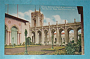 Arcade Entrance, Court Of Abundance Postcard (Image1)