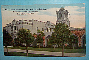 Prado Entrance To Arts & Crafts Building Postcard (Image1)